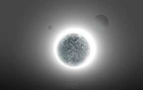solar eclipse, planet, glowing, Starkiteckt, space art