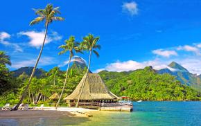 ocean, nature, mountain, resort, beach