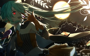 skull, Hatsune Miku, anime girls, anime, Vocaloid, Halloween
