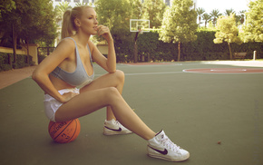 blonde, balloon, sports, Jordan Carver