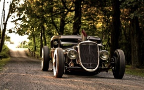 Rat Rod, car, road