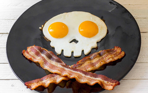 delicious, skull, plate, skeleton, eyes
