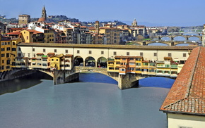 cities, Italy, bridge, river