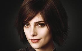 Ashley Greene, brunette, yellow eyes, Twilight