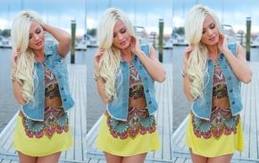 macro, blonde, girl, fashion model, photo