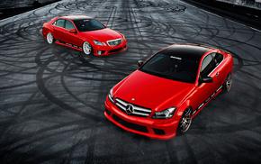 c350, Mercedes Benz, красный, мерседес бенц, суперкар, tuning