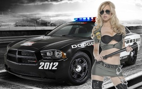 car, girl, Dodge, blonde, cars