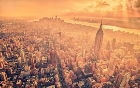 city, Empire State Building, filter, sunlight, cityscape, urban, New York City