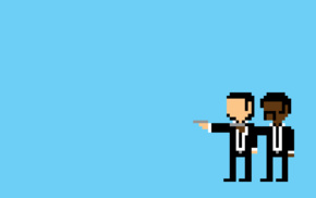 Pulp Fiction, pixel art, minimalism