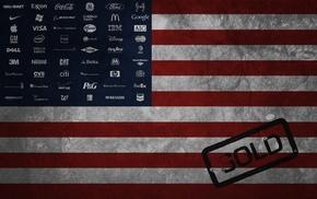 flag, USA, companies