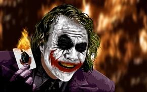 cards, fire, The Dark Knight, MessenjahMatt, Joker