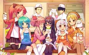 Kaname Madoka, anime girls, anime, Miki Sayaka, Momoe Nagisa, Akemi Homura
