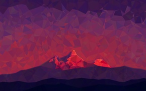 mountain, poly, abstract