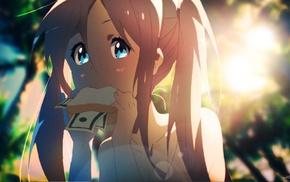 eating, anime girls, original characters, Tom Skender