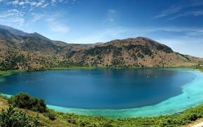 mountain, nature, summer, lake, landscape