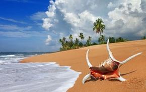 summer, sand, landscape, beach, water