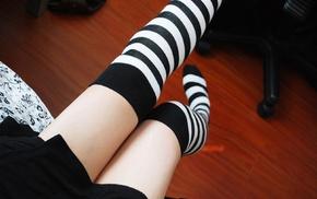 девушка, ножки, носки