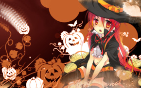 Halloween, Shakugan no Shana, anime girls, Shana