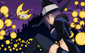 anime girls, Soul Eater, witch, Halloween, Blair