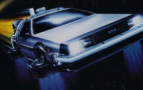 DeLorean, time travel, movies, Back to the Future