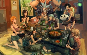 Usopp, Nami, strawhat pirates, Franky, One Piece, anime