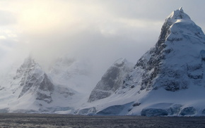 туман, природа, снег, океан, Антарктида, красота