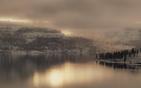 снег, зима, пейзаж, природа