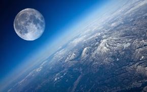 космос, красиво, земля, пейзаж, горы, рельеф