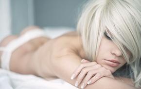 sexy, posing, macro photo, girls, blonde
