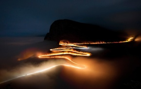light painting, National Geographic, South Africa, mist, road, silhouette