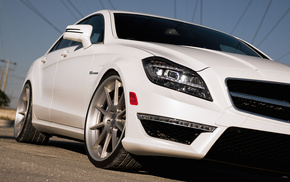 белый, Mercedes Benz, автомобили, дорога, мерседес бенц, суперкар