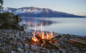 stones, fire, sea, bay, stunner