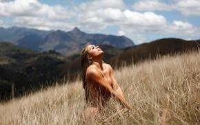 blonde, nature, photo, boobs, mountain