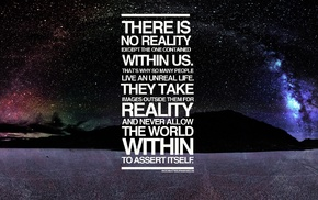 typography, alternate reality, landscape, space, quote
