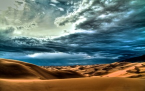 nature, cloudy, desert, sky, clouds