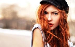girl, Ebba Zingmark, face, redhead