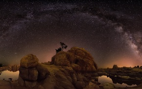 rock formation, Milky Way, landscape