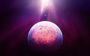 планета, космический арт, туманность