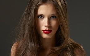 portrait, lipstick