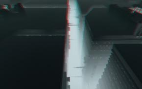 building, 3D, cityscape, monochrome