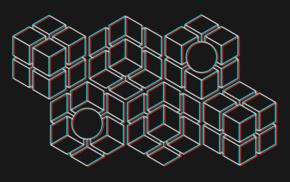 3D, минимализм, куб