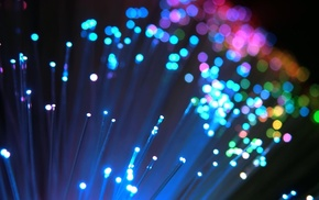 macro, Optic fiber, colorful, bokeh, lights