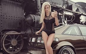 блондинка, тюнинг, креатив, авто, паровоз, leonie hagmeyer-reyinger