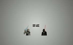 Star Wars, artwork, Master Chief, Halo, Darth Vader, humor