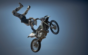 motorcycle, bounce, sky, sports