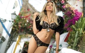 girls, posing, sexy, street, linen