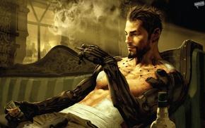 Adam Jensen, futuristic, Deus Ex Human Revolution