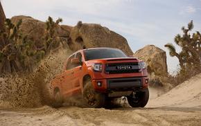 Toyota, cars, power, sand