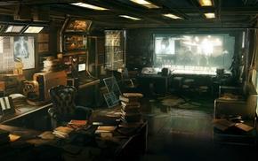 futuristic, concept art, cyberpunk, Deus Ex Human Revolution