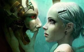 робот, девушка, футуризм
